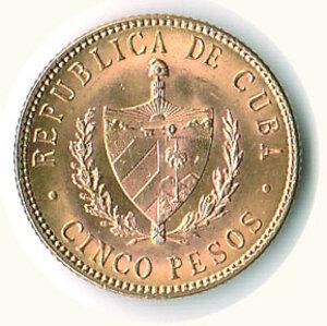reverse: CUBA - 5 Pesos 1916.