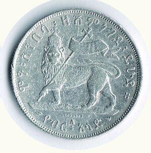 reverse: ETIOPIA - Menelik II - Birr 1889 - KM 5.