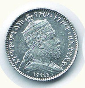 obverse: ETIOPIA - Menelik II - Gersh 1891.