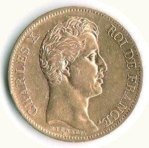 obverse: FRANCIA - Carlo X (1824-1830) - 40 Fr. 1830.