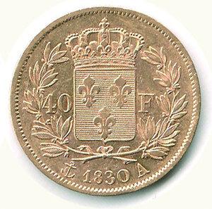 reverse: FRANCIA - Carlo X (1824-1830) - 40 Fr. 1830.