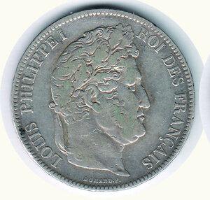 obverse: FRANCIA - Luigi Filippo 5 Fr 1842