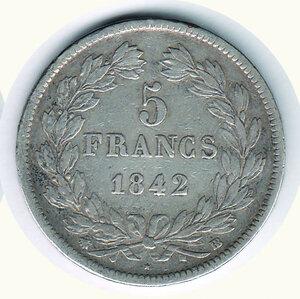 reverse: FRANCIA - Luigi Filippo 5 Fr 1842