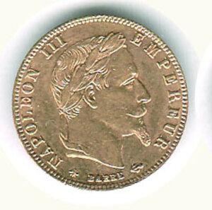 obverse: FRANCIA - Napoleone III - 5 Fr. 1864.