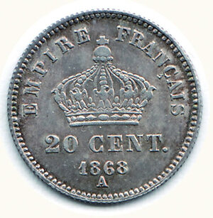reverse: FRANCIA - Napoleone III - 20 Cent.