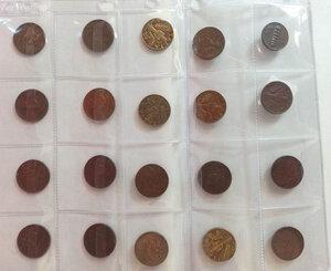 obverse: VITTORIO EMANUELE III - Lotto di 56 monete di valori da 5 a 20 cent.