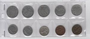 obverse: VITTORIO EMANUELE III - Lotto di 11 monete