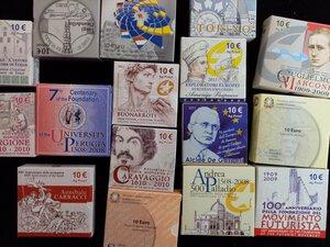 obverse: REPUBBLICA ITALIANA - Lotto di 31 pezzi da 10 Euro