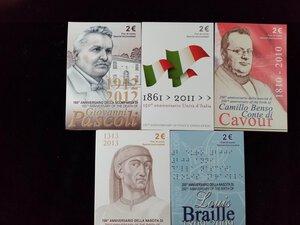 obverse: REPUBBLICA ITALIANA - Lotto di 5 pezzi da 2 Euro