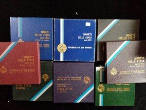 obverse: SAN MARINO - 8 serie divisionali anni 1972, 73, 74, 75, 76, 78, 84, 86