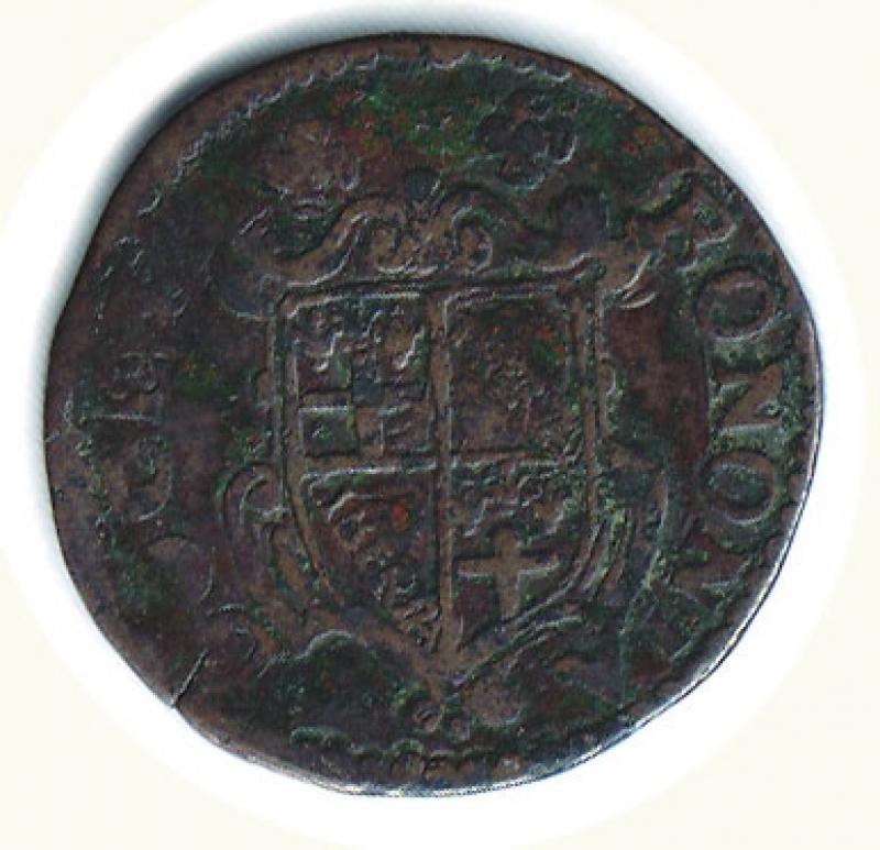 reverse: BOLOGNA - Urbano VIII (1623-1644) - Mezzo Bolognino 1629