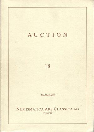 obverse: ARS CLASSICA AG. – Auction 18. Zurich, 29 – March, 2000.  Greek, Roman & Byzantine coins.  Pp. n.n.  nn. 789,  tavv. 28 a colori + ill. nel testo. ril. ed ottimo stato.