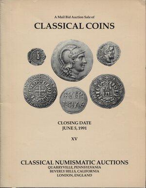 obverse: CLASSICAL NUMISMATIC AUCTIONS, LTD. – XV, Pennsylvania, 5 june 1991. Pp. 100, nn. 1127, ill. nel testo. Ril.ed. Buono stato