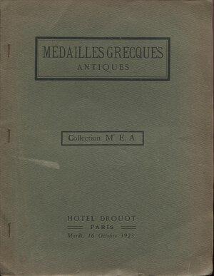 obverse: FLORANGE  J. – CIANI  L. -  Paris, 16 – Octobre, 1923. Collection de Mr. E. A.  medailles grecques.   Pp. 13,  nn. 98,  tavv. 2.  Ril .ed. buono stato, raro. Spring, 181