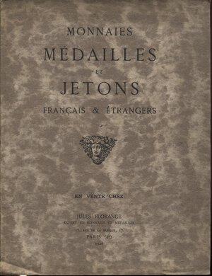 obverse: FLORANGE  J. – Paris, 1926.  Monnaies et medailles et jetons francaise & entrangeres.  Pp. 30,  nn. 832. Ril. ed. buono stato, raro.