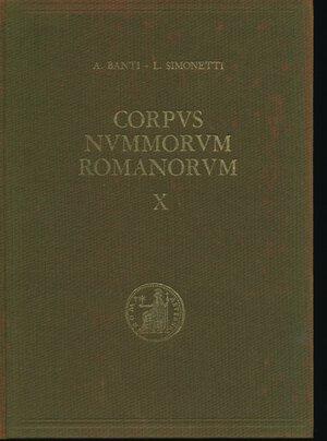 obverse: BANTI A. - SIMONETTI L. - Corpus Nummorum Romanorum Vol. X da Tiberio a Druso . Firenze, 1976, pp. 307, foto in b/n. Coperrtina rigida in tela. Buono stato.