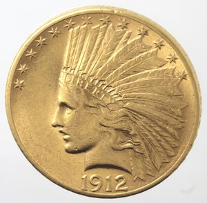 obverse: USA. 10 Dollari Indiano 1912. Au.