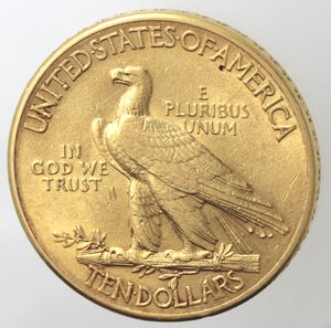 reverse: USA. 10 Dollari Indiano 1912. Au.