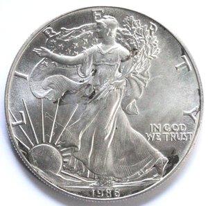 reverse: USA. Dollaro 1986. Oncia. Ag.