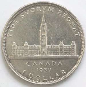 reverse: Canada. Dollaro 1939. Ag 800.