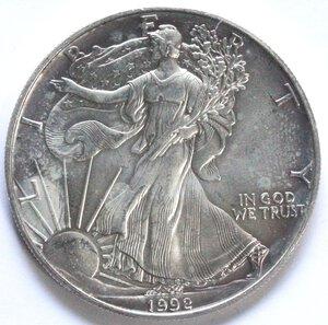 reverse: USA. Dollaro 1992. Oncia. Ag.