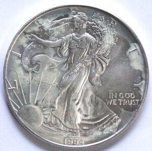 reverse: USA. Dollaro 1994. Oncia. Ag.