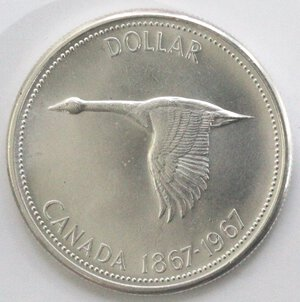 reverse: Canada. Dollaro 1967. Ag 925.