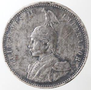 obverse: Africa Orientale. Guglielmo II. 1888-1918. Rupia 1910. Ag.