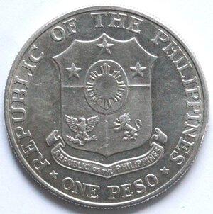 obverse: Filippine. Peso 1967. Ag.