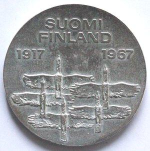 obverse: Finlandia. 10 Marchi 1967. Ag.