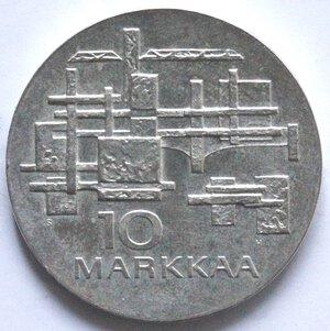 reverse: Finlandia. 10 Marchi 1967. Ag.