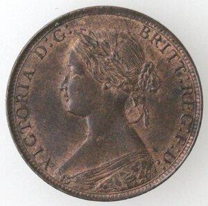 obverse: Gran Bretagna. Vittoria. 1837-1901. 1/2 Penny 1861. Ae.