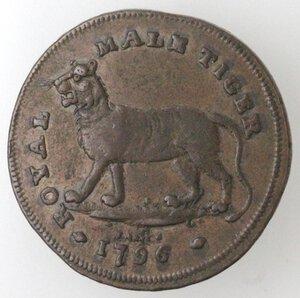 reverse: Gran Bretagna. Middlesex. Charles James, Halfpenny, Token 1796. Ae.