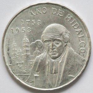reverse: Messico. 5 Pesos 1953. Ag.