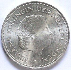 obverse: Olanda. Giuliana. 1948-1980. 10 Gulden 1970 Liberazione. Ag.