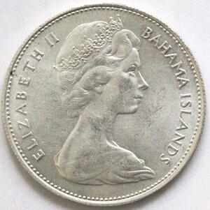 obverse: Bahamas. Dollaro 1966. Ag 800.