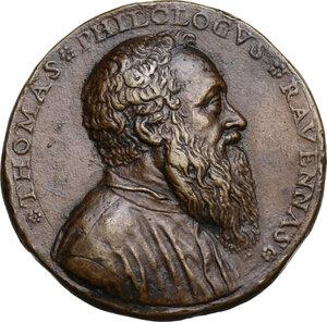 obverse: Tommaso Rangone (1485-1577), umanista e mecenate.. Medaglia (1560)