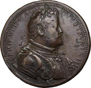 obverse: Ferdinando I de Medici (1587-1609). Medaglia 1590