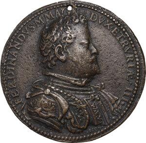 obverse: Ferdinando I de Medici (1587-1609). Medaglia 1592