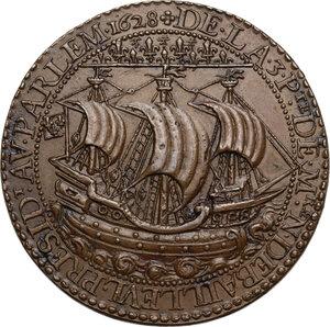 reverse: Luigi XIII (1610-1643). Medaglia 1628, per il terzo mandato da Prevosto dei mercanti di Parigi di Nicolas de Bailleul