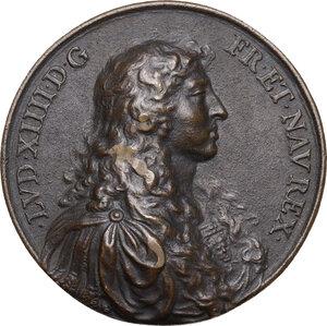 obverse: Luigi XIV (1643-1715), Re di Francia.. Medaglia 1663