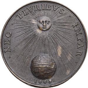 reverse: Luigi XIV (1643-1715), Re di Francia.. Medaglia 1663