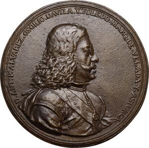 obverse: Antonio Alvarez Osorio (1672-1675), Vicerè di Napoli.. Medaglia con bordo modanato s.d