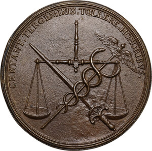 reverse: Antonio Alvarez Osorio (1672-1675), Vicerè di Napoli.. Medaglia con bordo modanato s.d