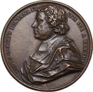 obverse: Carlo Fontana (1638-1714), architetto. Medaglia con piccolo bordo modanato s.d. (1681)