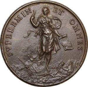 reverse: Carlo Fontana (1638-1714), architetto. Medaglia con piccolo bordo modanato s.d. (1681)