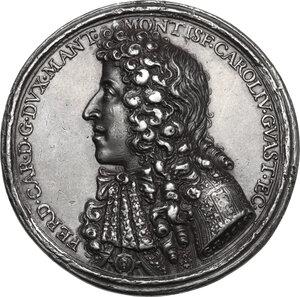 obverse: Ferdinando Carlo di Gonzaga-Nevers (1652-1708).. Medaglia con piccolo bordo modanato 1686