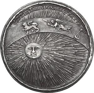 reverse: Ferdinando Carlo di Gonzaga-Nevers (1652-1708).. Medaglia con piccolo bordo modanato 1686
