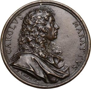 obverse: Carlo Maratta (1625-1713) Pittore e membro dell Accademia di San Luca.. Medaglia con bordo modanato s.d