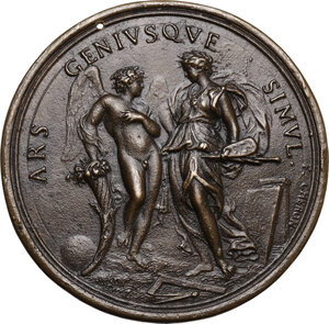 reverse: Carlo Maratta (1625-1713) Pittore e membro dell Accademia di San Luca.. Medaglia con bordo modanato s.d
